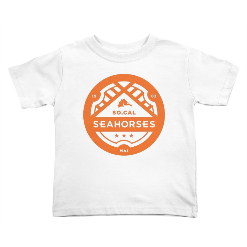 Seahorse Crest - Orange Kids Toddler T-Shirt by SEAHORSE SOCCER's Artist Shop