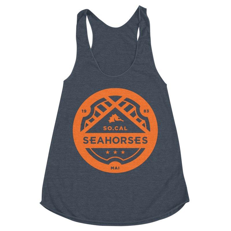 Seahorse Crest - Orange Women's Racerback Triblend Tank by SEAHORSE SOCCER's Artist Shop
