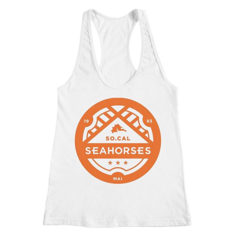 Seahorse Crest - Orange Women's Racerback Tank by SEAHORSE SOCCER's Artist Shop