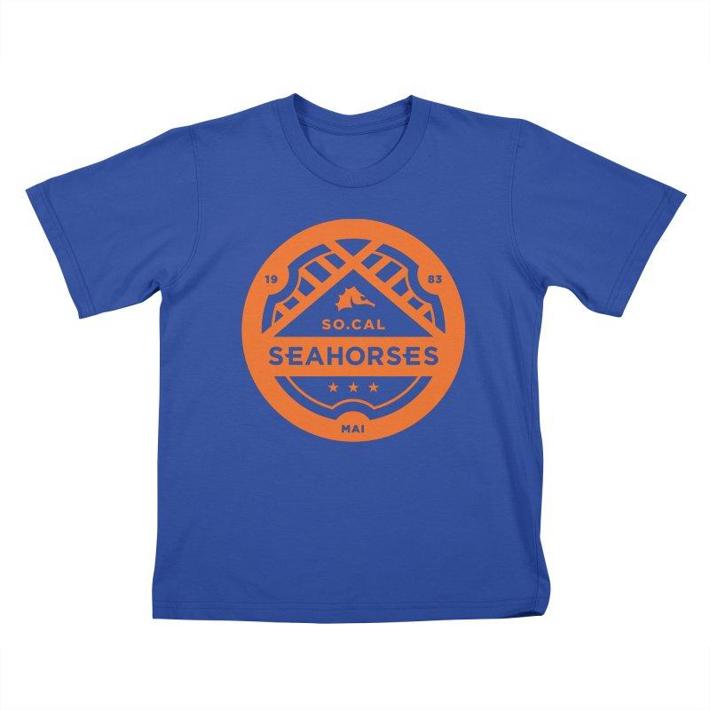 Seahorse Crest - Orange Kids T-Shirt by SEAHORSE SOCCER's Artist Shop