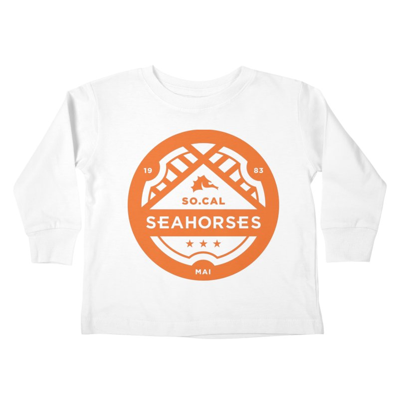 Seahorse Crest - Orange Kids Toddler Longsleeve T-Shirt by SEAHORSE SOCCER's Artist Shop