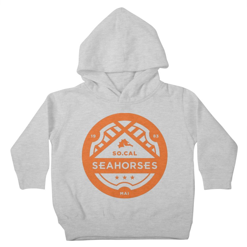 Seahorse Crest - Orange Kids Toddler Pullover Hoody by SEAHORSE SOCCER's Artist Shop