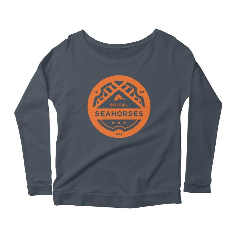 Seahorse Crest - Orange Women's Scoop Neck Longsleeve T-Shirt by SEAHORSE SOCCER's Artist Shop