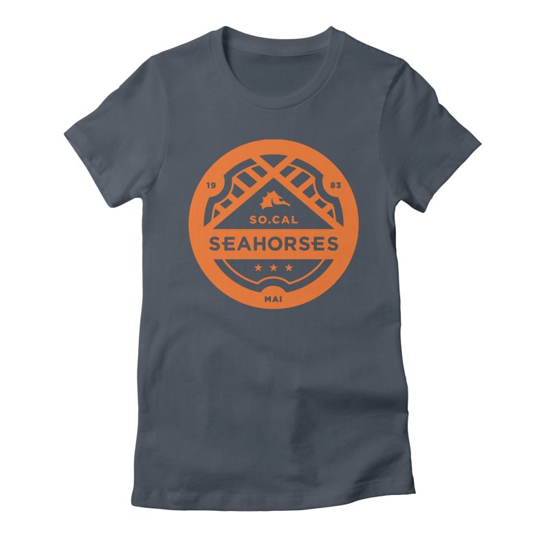 Seahorse Crest - Orange Women's Fitted T-Shirt by SEAHORSE SOCCER's Artist Shop