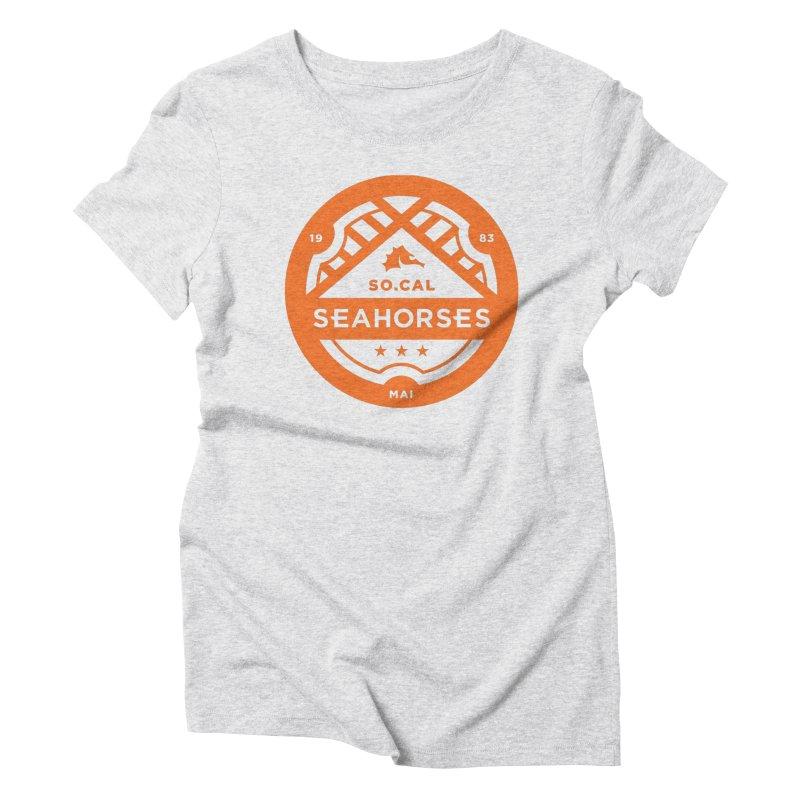Seahorse Crest - Orange Women's Triblend T-Shirt by SEAHORSE SOCCER's Artist Shop