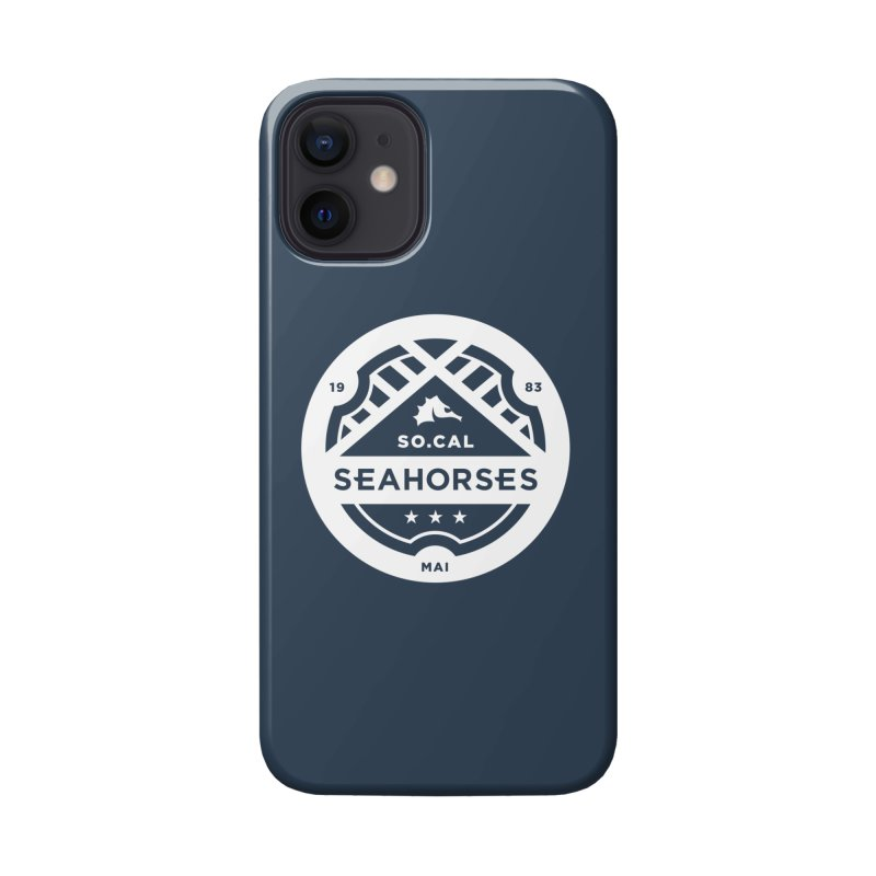 Seahorse Crest - White Accessories Phone Case by SEAHORSE SOCCER's Artist Shop