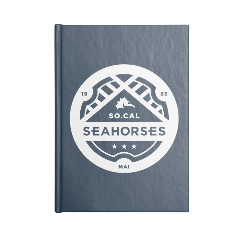 Seahorse Crest - White Accessories Lined Journal Notebook by SEAHORSE SOCCER's Artist Shop