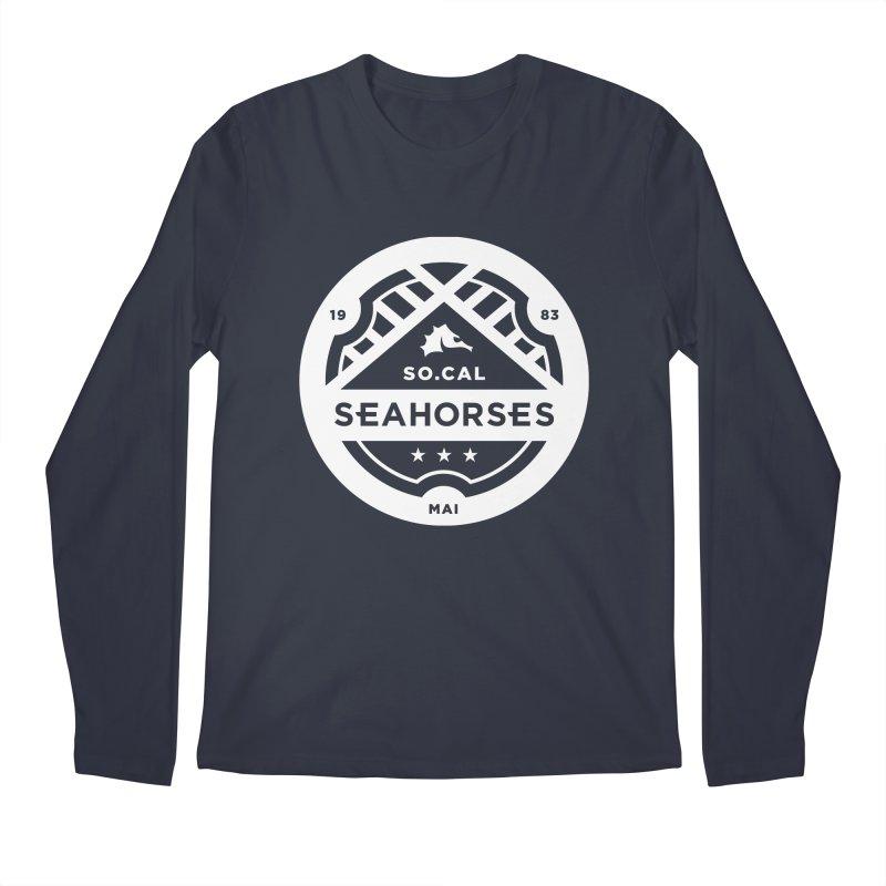 Seahorse Crest - White Men's Longsleeve T-Shirt by SEAHORSE SOCCER's Artist Shop