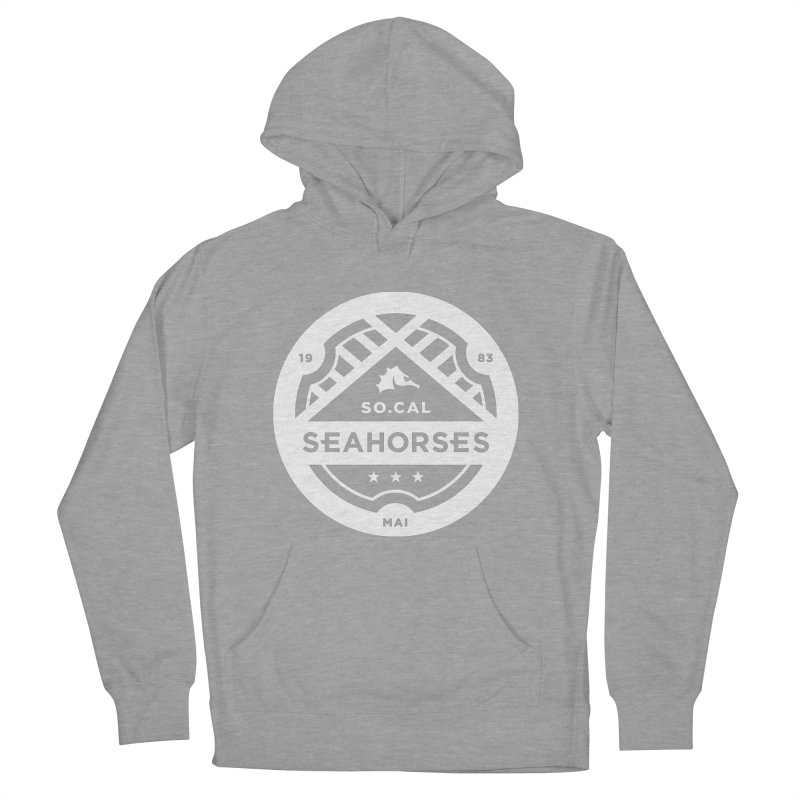 Seahorse Crest - White Women's French Terry Pullover Hoody by SEAHORSE SOCCER's Artist Shop