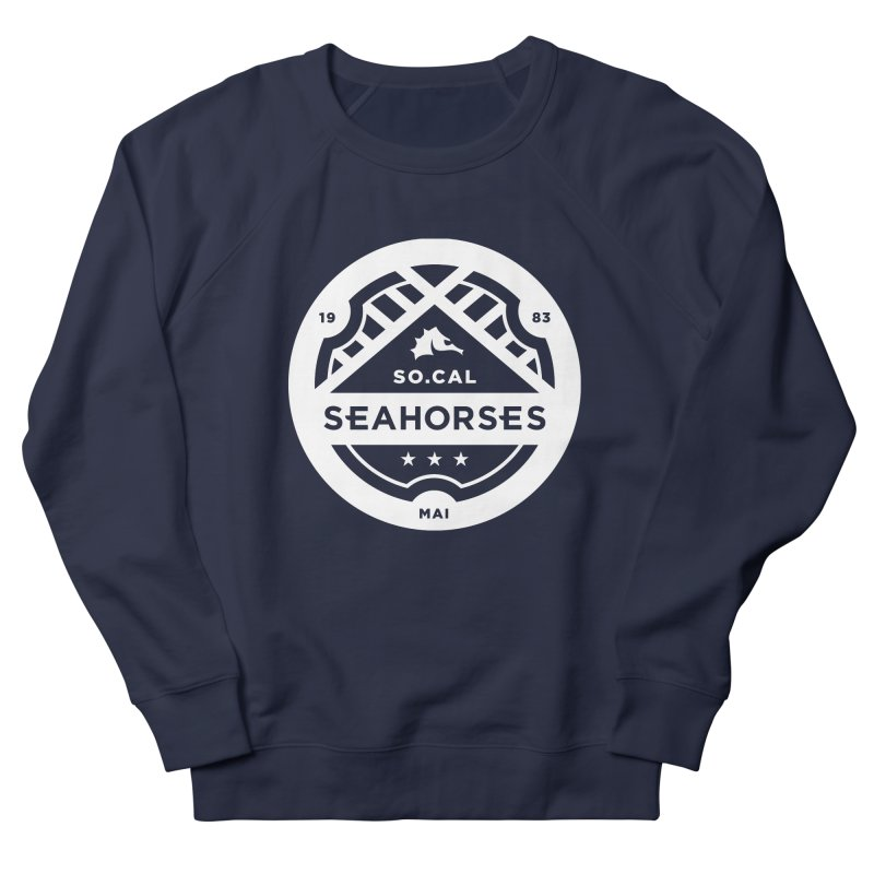 Seahorse Crest - White Women's French Terry Sweatshirt by SEAHORSE SOCCER's Artist Shop