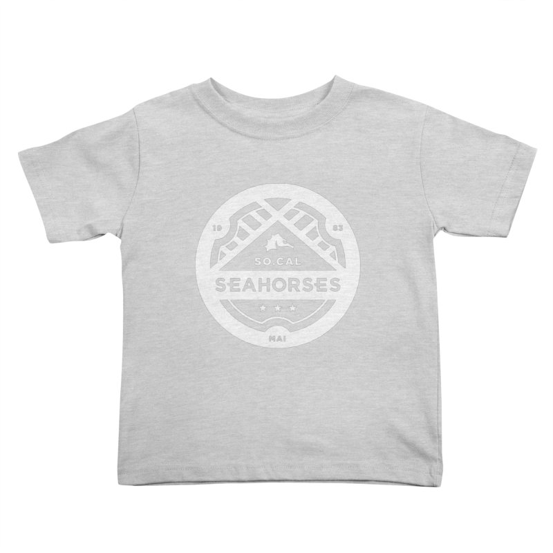 Seahorse Crest - White Kids Toddler T-Shirt by SEAHORSE SOCCER's Artist Shop