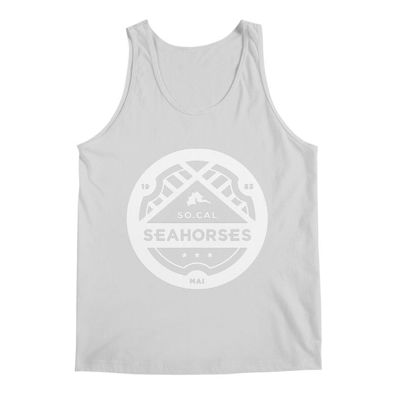 Seahorse Crest - White Men's Regular Tank by SEAHORSE SOCCER's Artist Shop