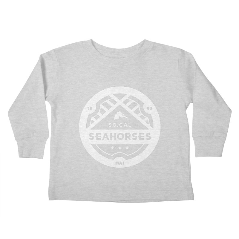 Seahorse Crest - White Kids Toddler Longsleeve T-Shirt by SEAHORSE SOCCER's Artist Shop