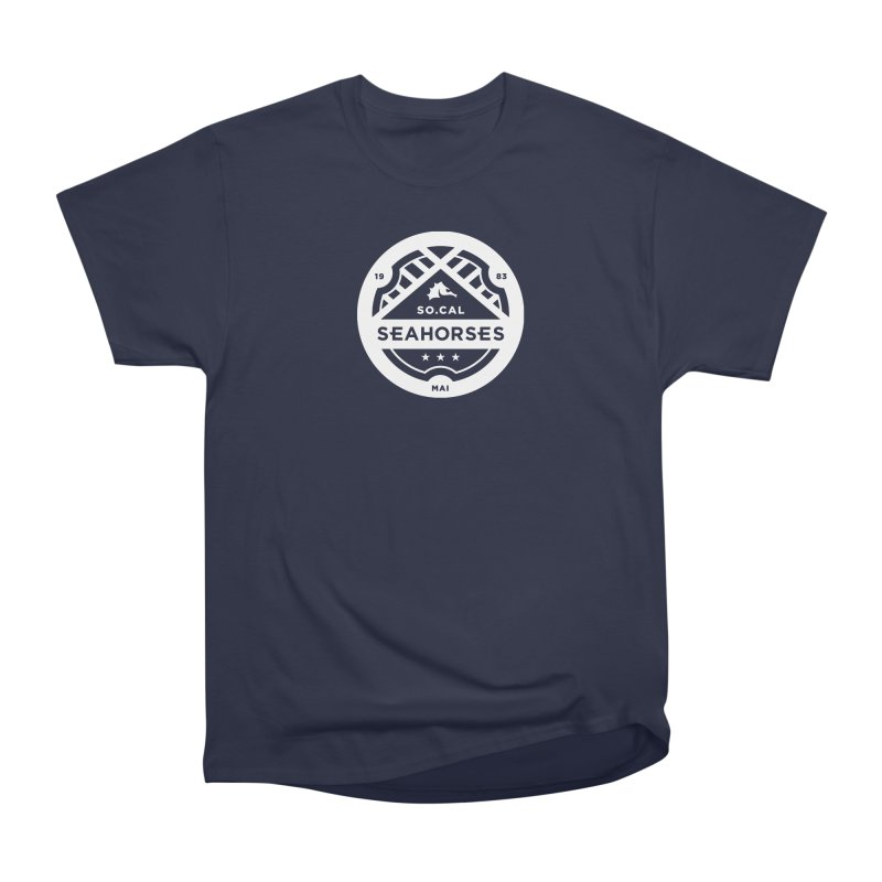 Seahorse Crest - White Men's T-Shirt by SEAHORSE SOCCER SHOP