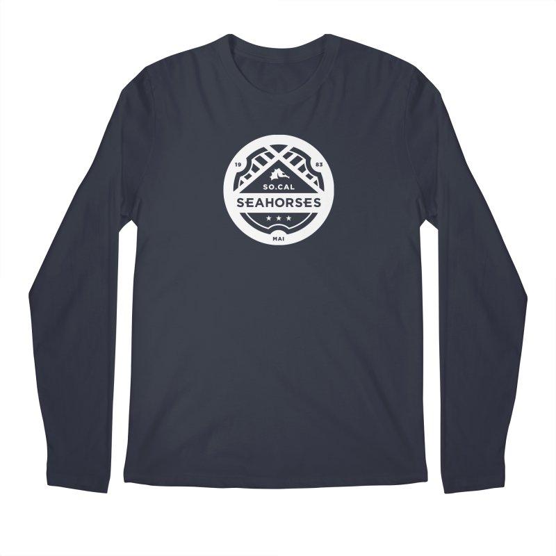 Seahorse Crest - White Men's Longsleeve T-Shirt by SEAHORSE SOCCER SHOP