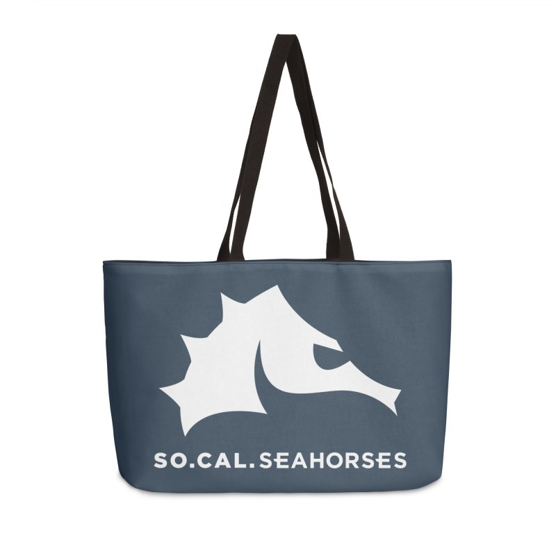 Seahorse Mascot / Wordmark - White Accessories Bag by SEAHORSE SOCCER's Artist Shop