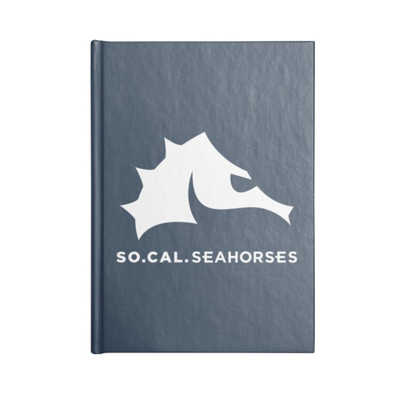 Seahorse Mascot / Wordmark - White Accessories Lined Journal Notebook by SEAHORSE SOCCER's Artist Shop