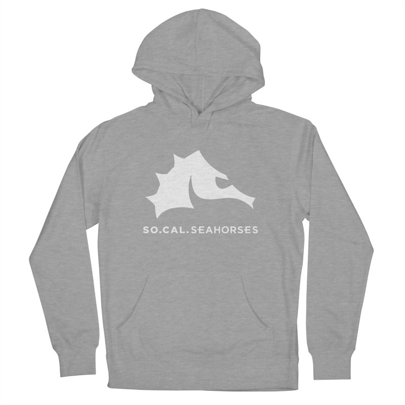 Seahorse Mascot / Wordmark - White Men's French Terry Pullover Hoody by SEAHORSE SOCCER's Artist Shop