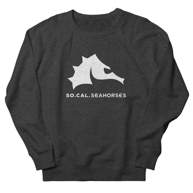 Seahorse Mascot / Wordmark - White Women's Sweatshirt by SEAHORSE SOCCER's Artist Shop