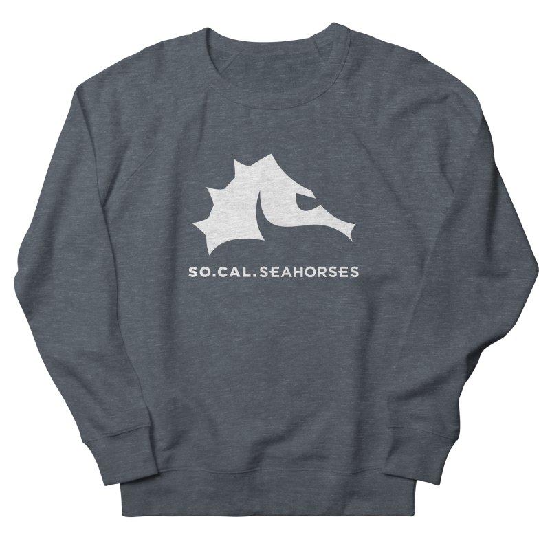Seahorse Mascot / Wordmark - White Women's French Terry Sweatshirt by SEAHORSE SOCCER's Artist Shop