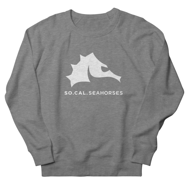 Seahorse Mascot / Wordmark - White Men's French Terry Sweatshirt by SEAHORSE SOCCER's Artist Shop