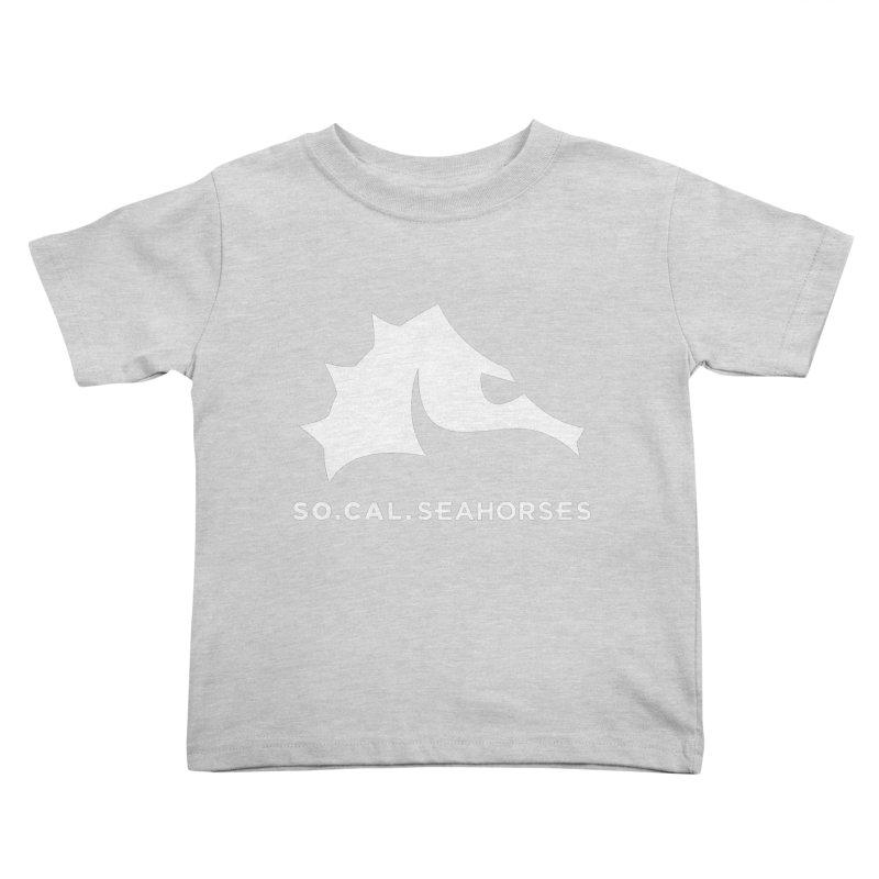 Seahorse Mascot / Wordmark - White Kids Toddler T-Shirt by SEAHORSE SOCCER's Artist Shop