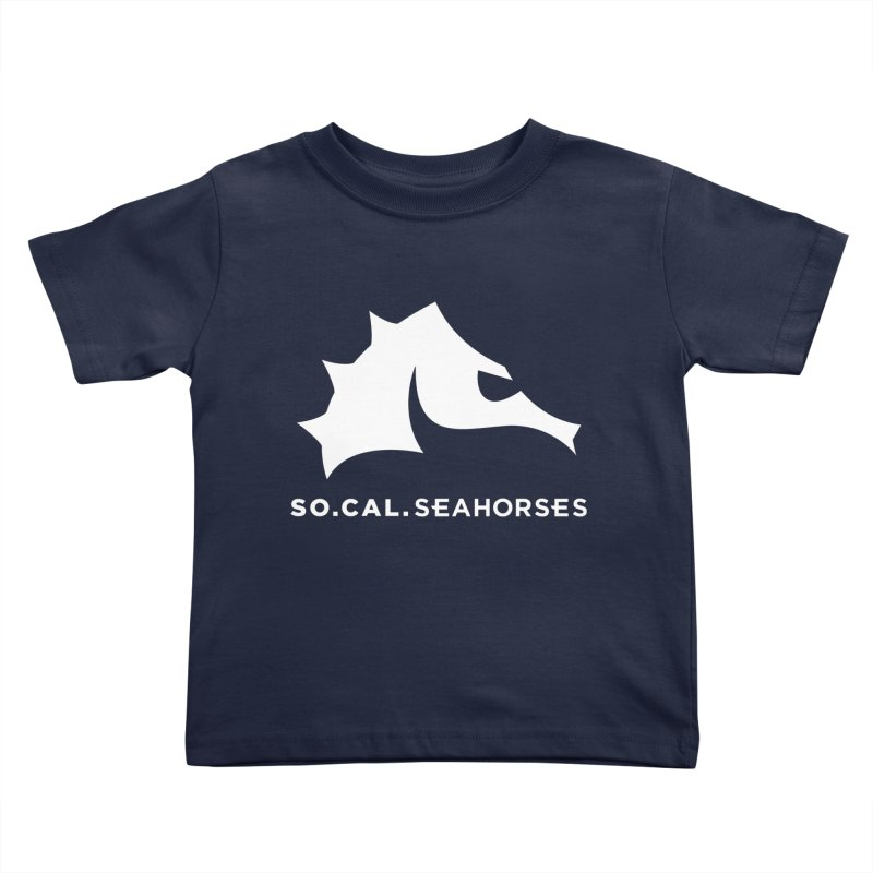 Seahorse Mascot / Wordmark - White Kids Toddler T-Shirt by SEAHORSE SOCCER's Artist Shop