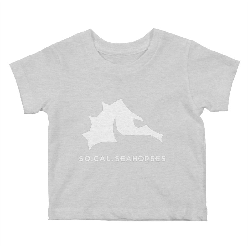 Seahorse Mascot / Wordmark - White Kids Baby T-Shirt by SEAHORSE SOCCER's Artist Shop