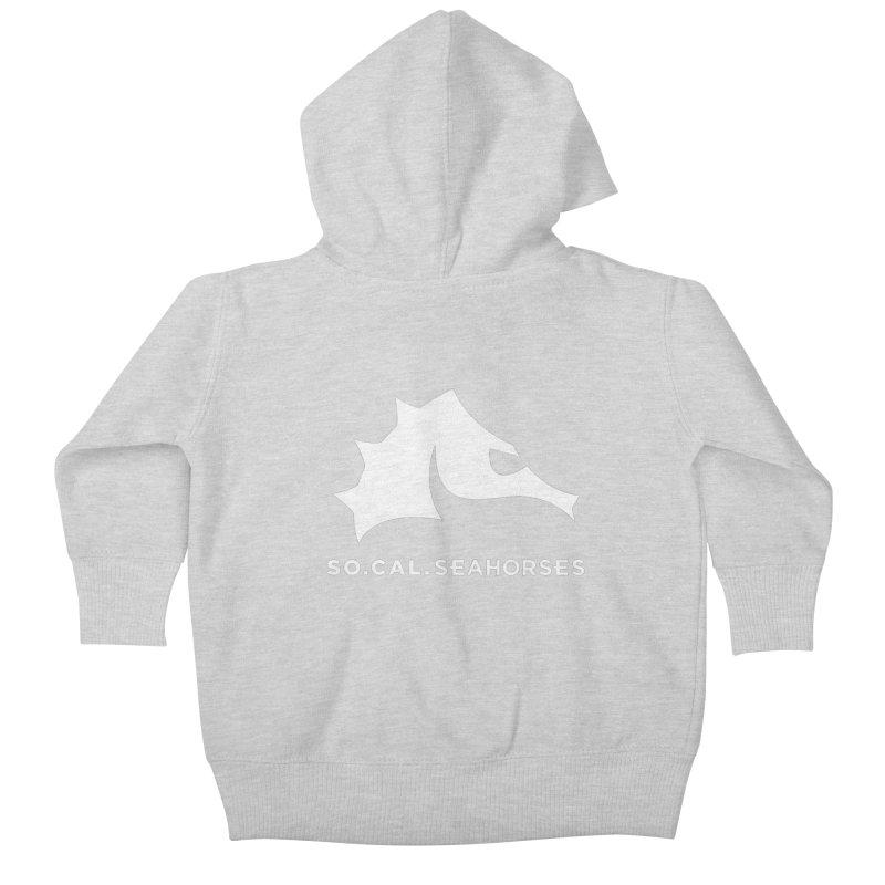 Seahorse Mascot / Wordmark - White Kids Baby Zip-Up Hoody by SEAHORSE SOCCER's Artist Shop