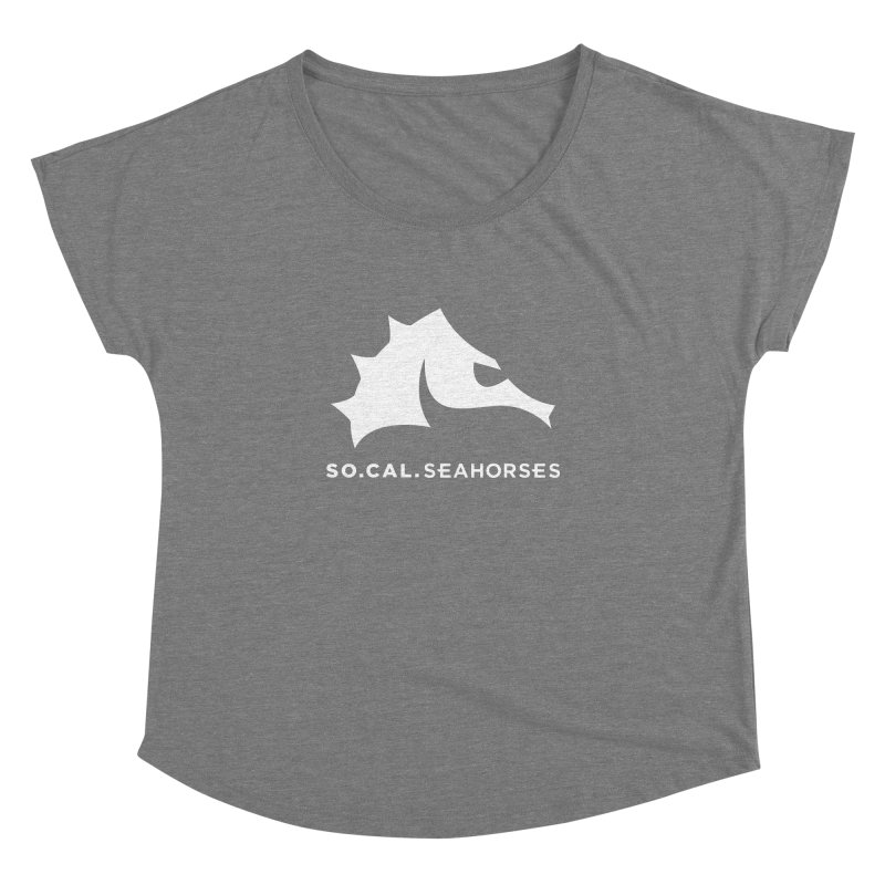 Seahorse Mascot / Wordmark - White Women's Dolman Scoop Neck by SEAHORSE SOCCER's Artist Shop