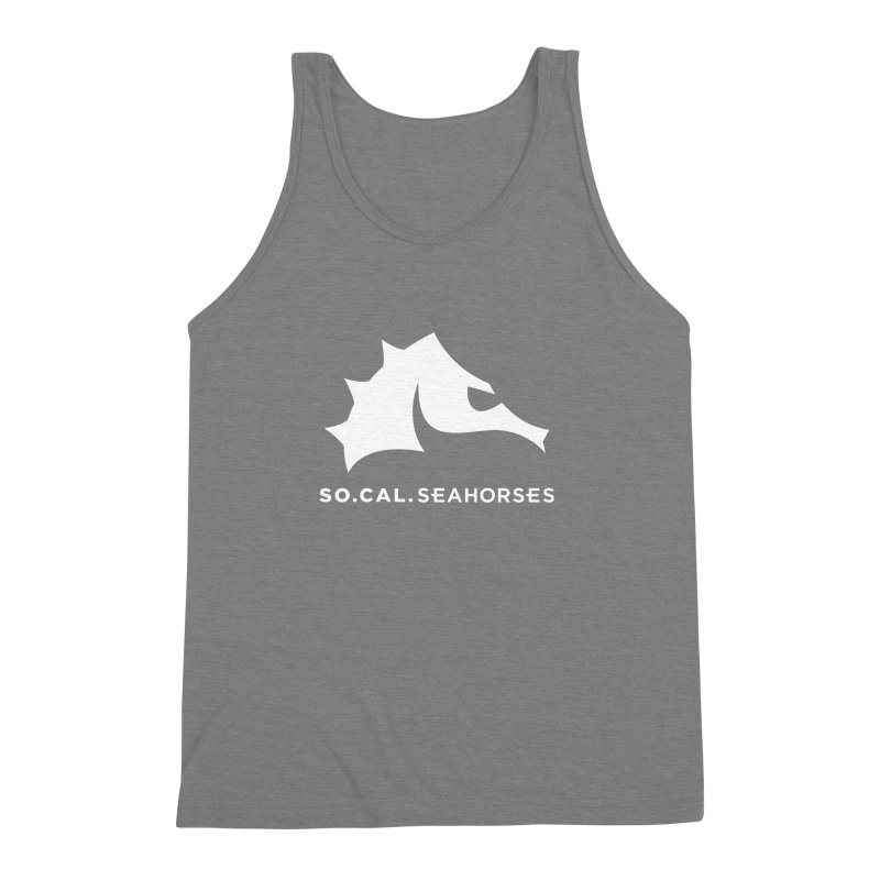 Seahorse Mascot / Wordmark - White Men's Triblend Tank by SEAHORSE SOCCER's Artist Shop