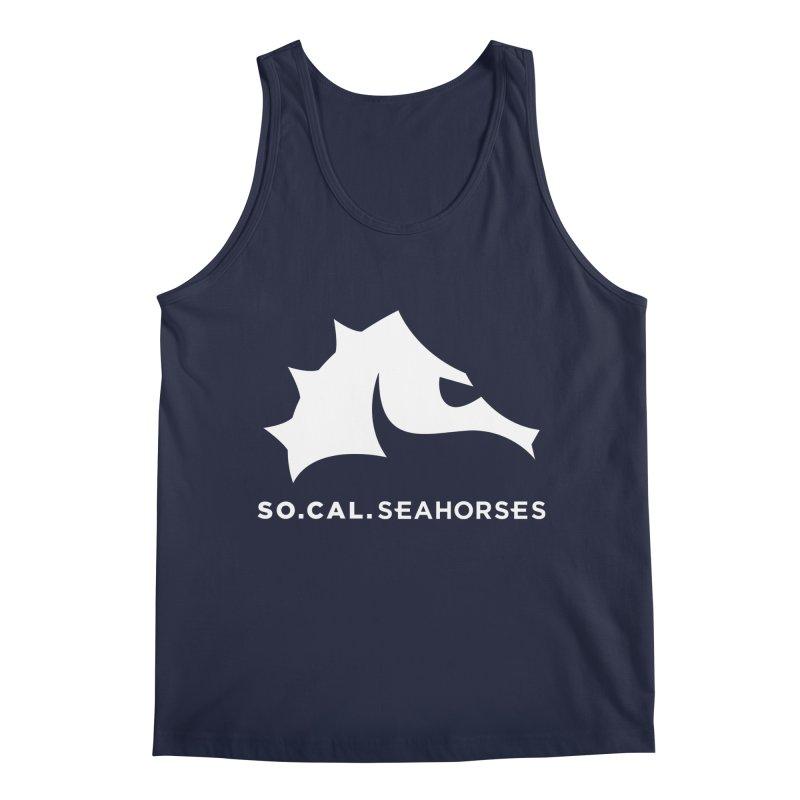 Seahorse Mascot / Wordmark - White Men's Regular Tank by SEAHORSE SOCCER's Artist Shop