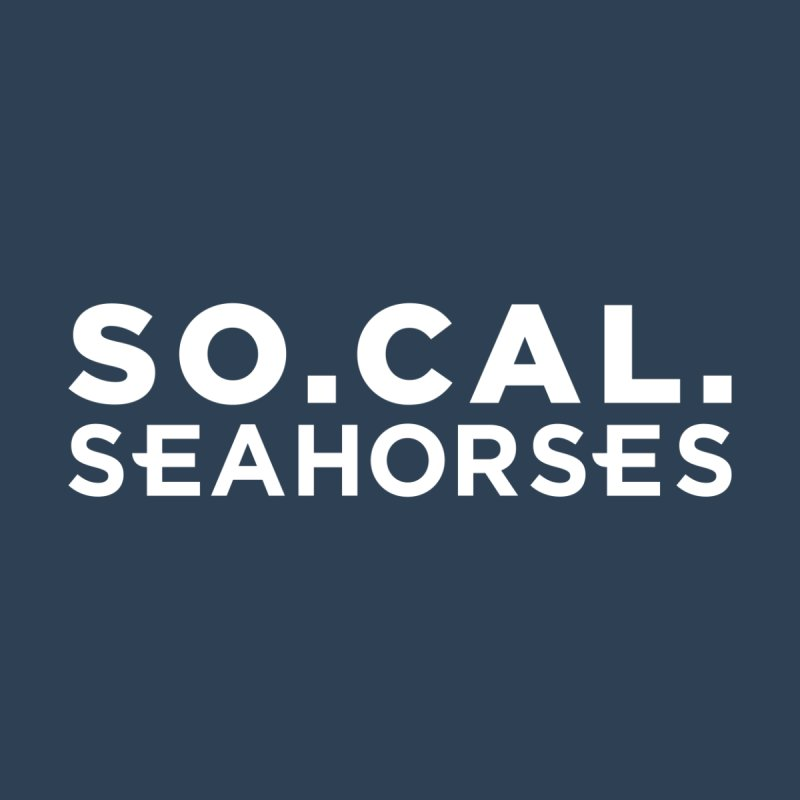 Seahorse Wordmark - White Accessories Bag by SEAHORSE SOCCER's Artist Shop