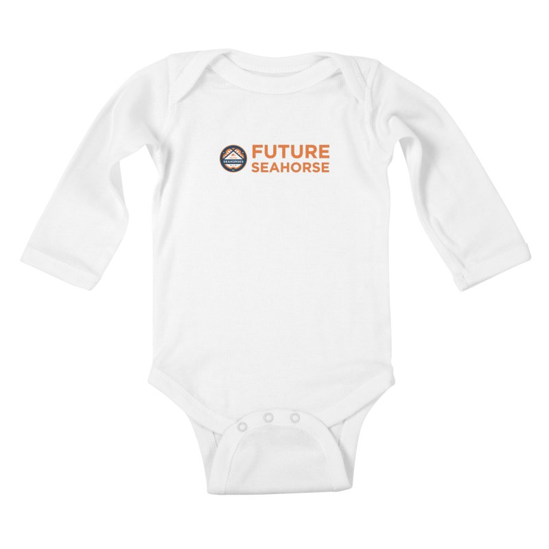 Future Seahorse - logo Kids Baby Longsleeve Bodysuit by SEAHORSE SOCCER's Artist Shop
