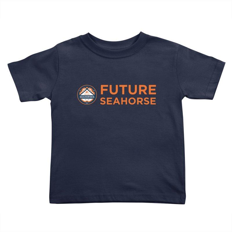Future Seahorse - logo Kids Toddler T-Shirt by SEAHORSE SOCCER's Artist Shop