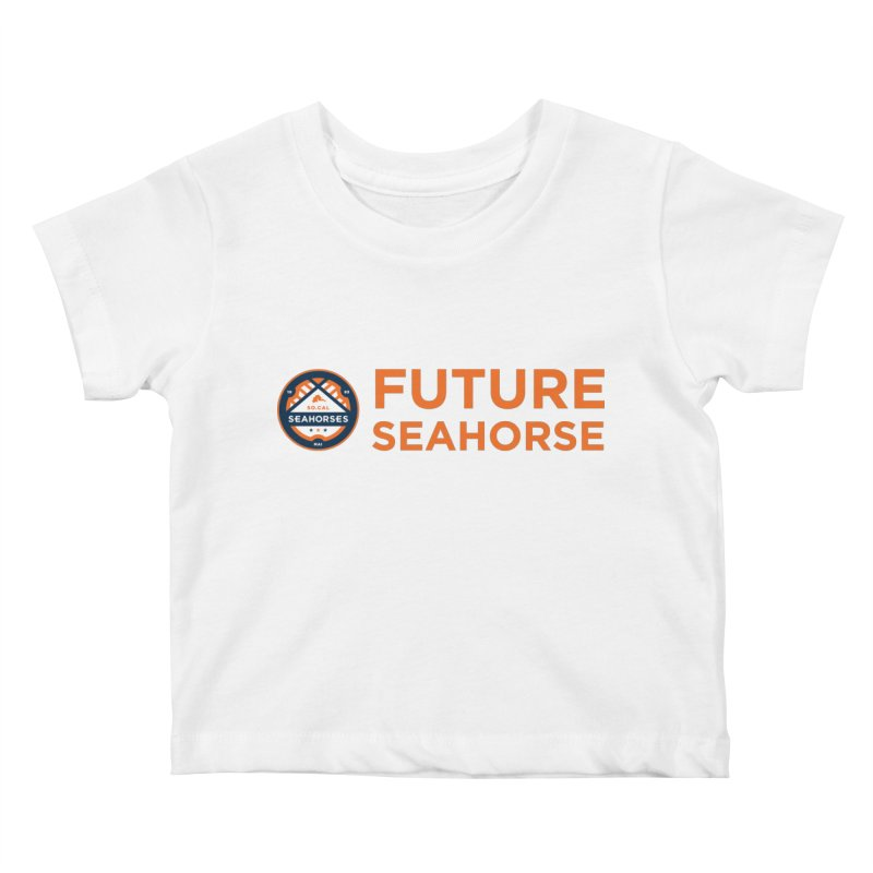 Future Seahorse - logo Kids Baby T-Shirt by SEAHORSE SOCCER's Artist Shop