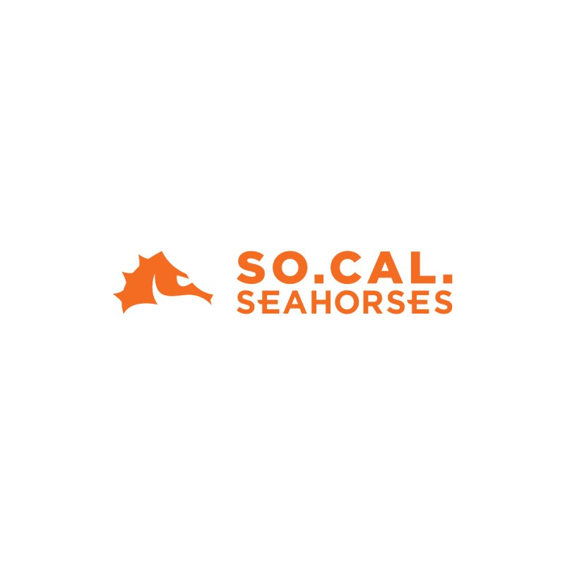 Mascot / Wordmark - Orange by SEAHORSE SOCCER's Artist Shop
