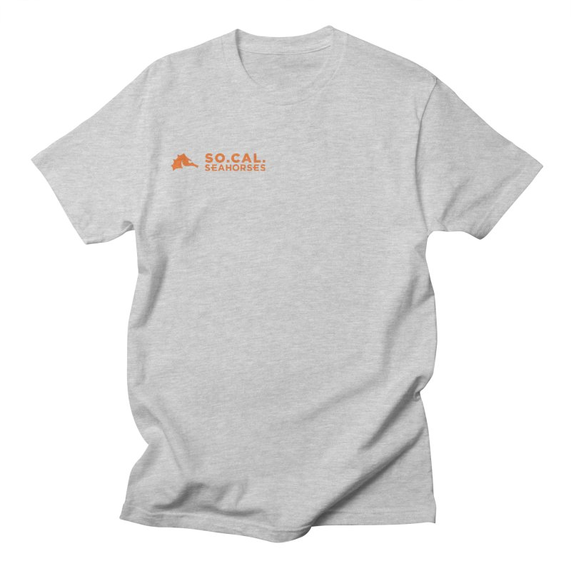 Mascot / Wordmark - Orange Men's T-Shirt by SEAHORSE SOCCER's Artist Shop