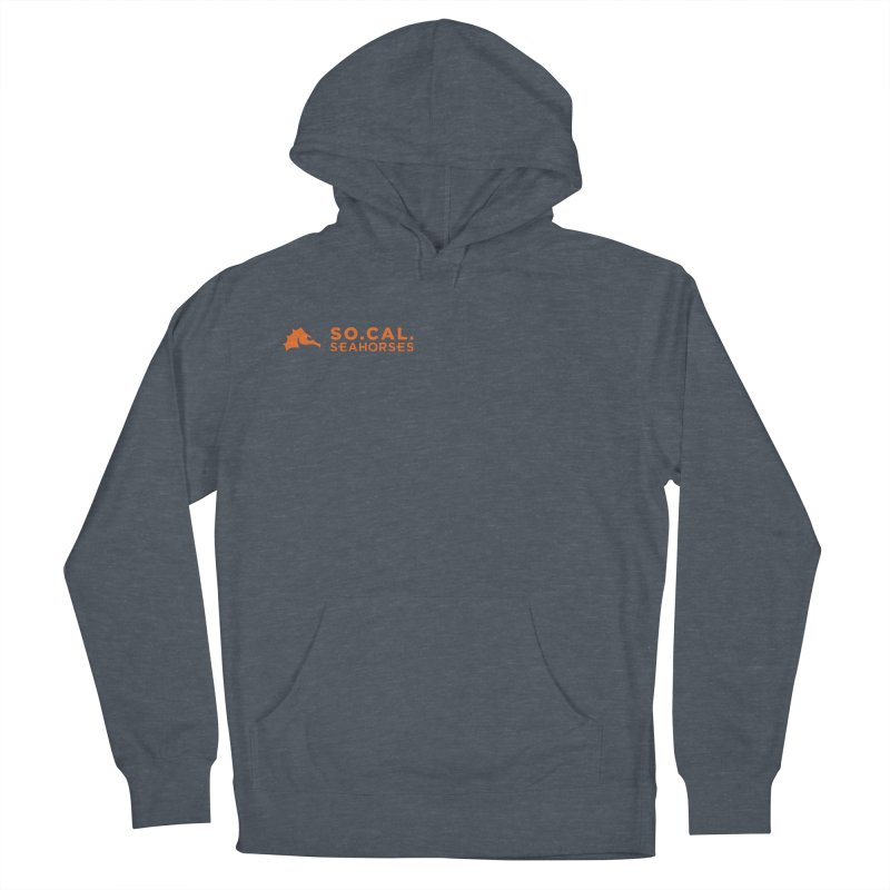Mascot / Wordmark - Orange Men's French Terry Pullover Hoody by SEAHORSE SOCCER's Artist Shop