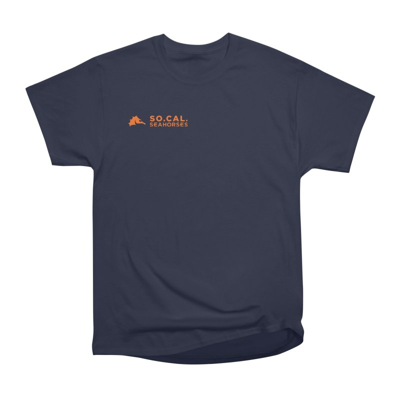 Mascot / Wordmark - Orange Men's Heavyweight T-Shirt by SEAHORSE SOCCER's Artist Shop