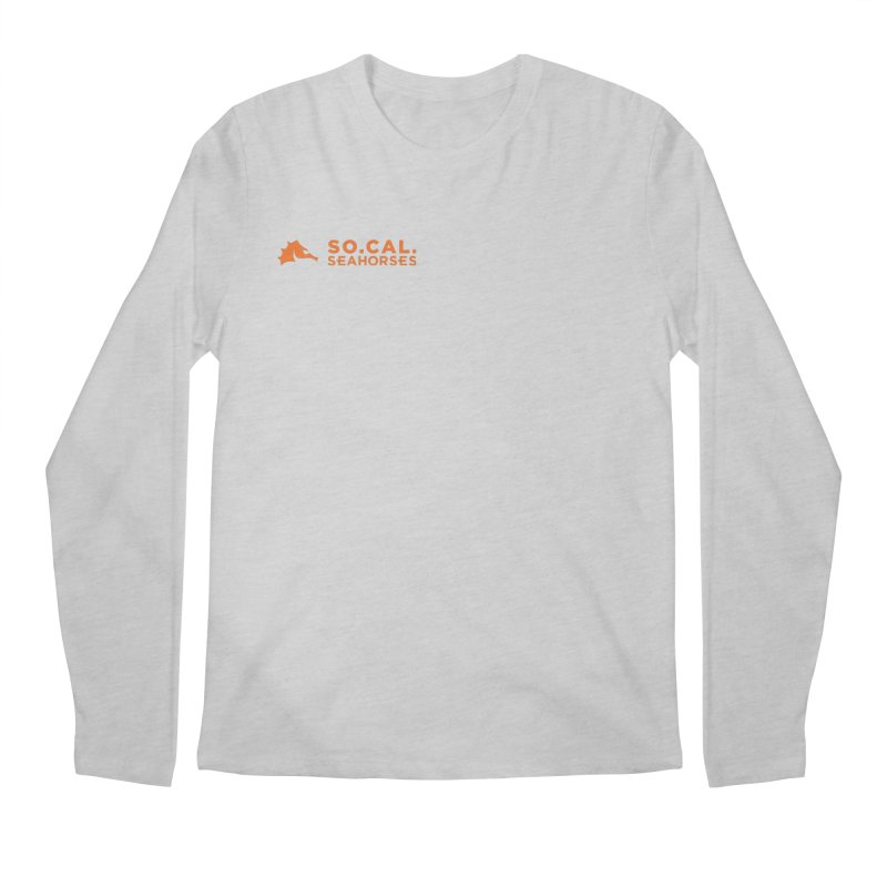 Mascot / Wordmark - Orange Men's Regular Longsleeve T-Shirt by SEAHORSE SOCCER's Artist Shop