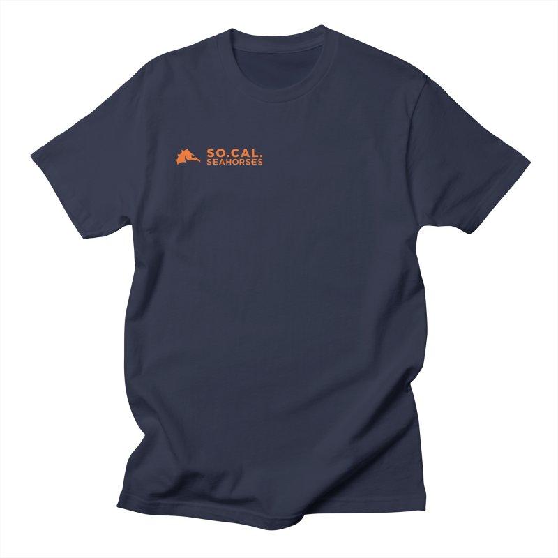 Mascot / Wordmark - Orange Men's Regular T-Shirt by SEAHORSE SOCCER's Artist Shop