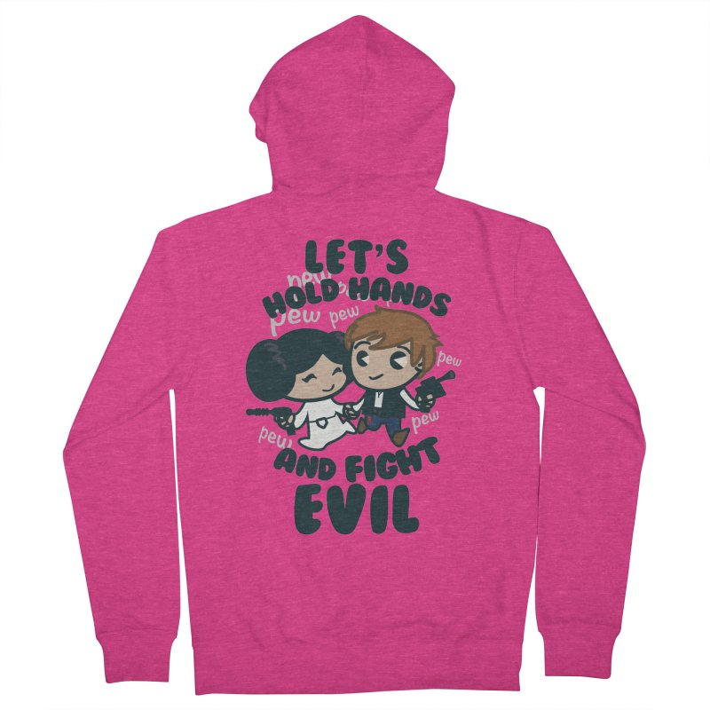 HOLD HANDS  v.1 Women's Zip-Up Hoody by SIRDYNAMO ARTIST SHOP