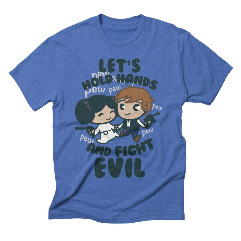 HOLD HANDS  v.1 Men's Triblend T-shirt by SIRDYNAMO ARTIST SHOP
