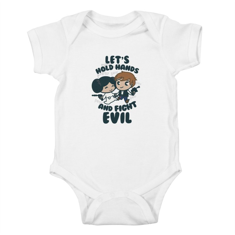 HOLD HANDS  v.1 Kids Baby Bodysuit by SIRDYNAMO ARTIST SHOP