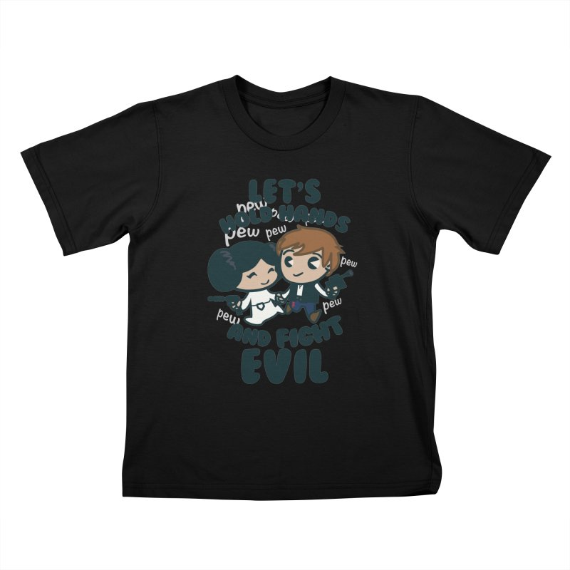 HOLD HANDS  v.1 Kids T-Shirt by SIRDYNAMO ARTIST SHOP