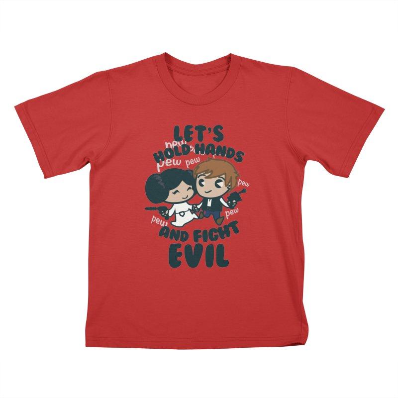HOLD HANDS  v.1 Kids T-shirt by SIRDYNAMO ARTIST SHOP
