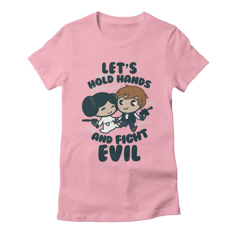 HOLD HANDS  v.1 Women's Fitted T-Shirt by SIRDYNAMO ARTIST SHOP