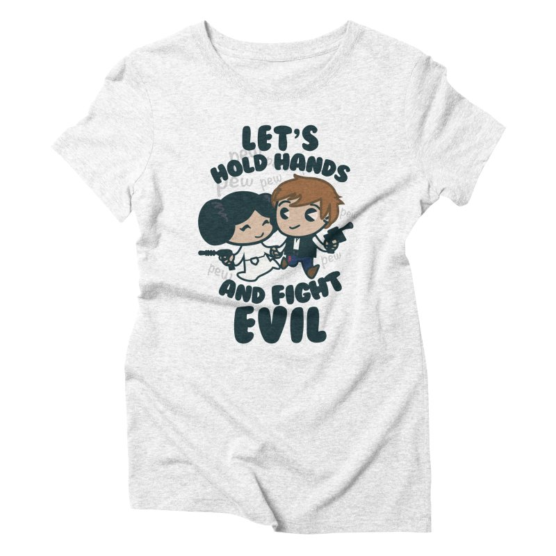HOLD HANDS  v.1 Women's Triblend T-shirt by SIRDYNAMO ARTIST SHOP