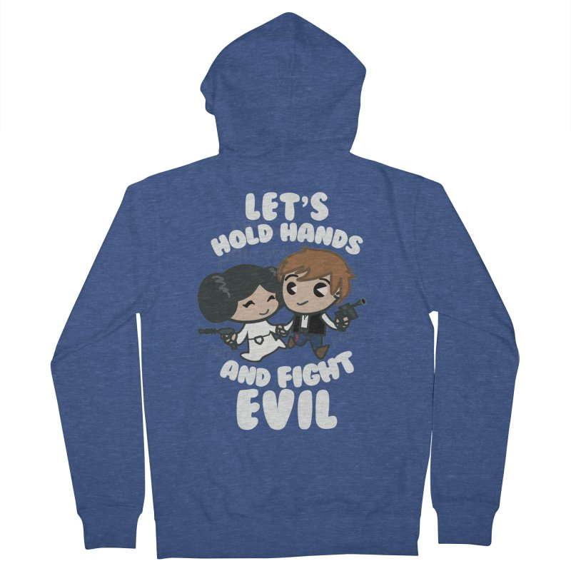 HOLD HANDS v.2 Women's Zip-Up Hoody by SIRDYNAMO ARTIST SHOP